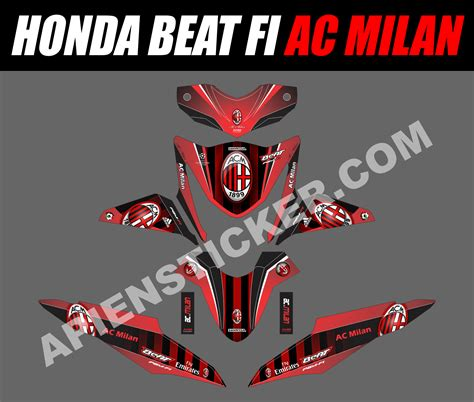 Jual Decal Motor Honda Beat Carbu Spec B Baru Aksesoris Sticker St striping motor beat impremedia net