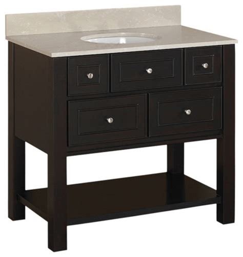 brown espresso hagen bath vanity with top contemporary