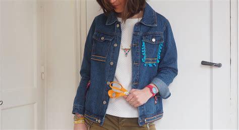 diy customiser une veste en jean sans machine 224 coudre