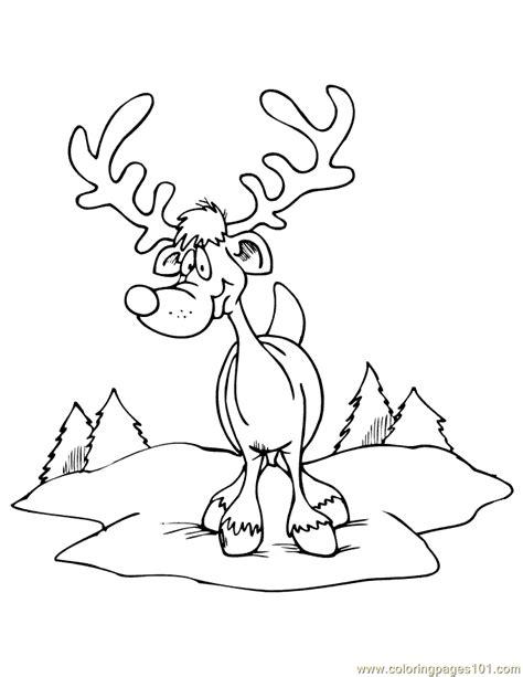large reindeer coloring page coloring pages reindeer big horn animals gt deer free