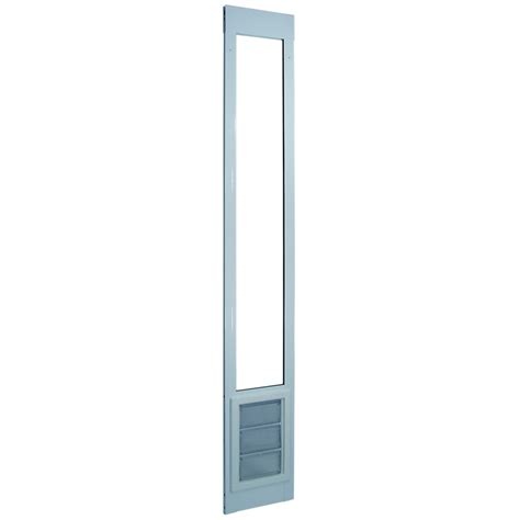 Doggie Doors Lowes by Shop Large White Aluminum Sliding Pet Door Actual 11 25