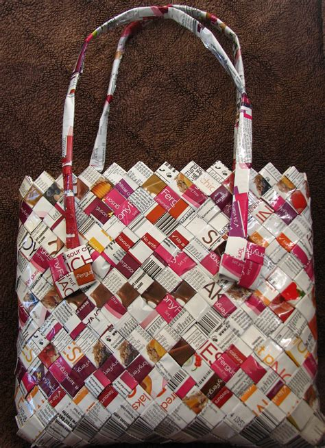 bag crafts we make and sell handbags made from recycled packaging