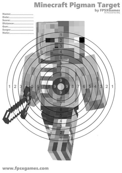 Minecraft Papercraft Target - minecraft pigman target