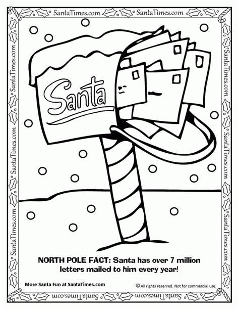 santa claus coloring page pdf mailbox of santa claus 274474 north pole coloring pages