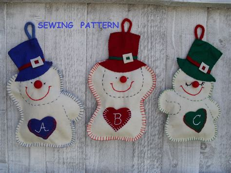 patterns christmas decorations sew snowmen felt christmas ornaments sewing pattern pdf how to