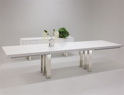 white lacquer dining table roma white lacquer dining table and buffet