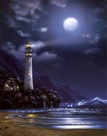 Marvel Wall Murals blue moon lighthouse art print