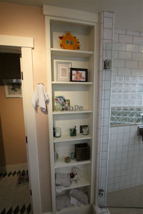 built in cabinets bathroom 1000 images about bathroom shelves on pinterest