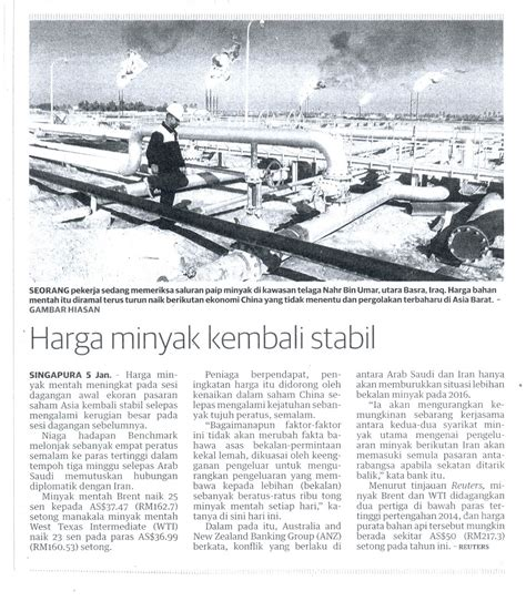 Harga Minyak sme corporation malaysia harga minyak kembali stabil