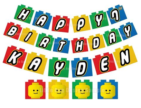 Printable Lego Birthday Banner | 9 best images of lego banner printable happy birthday