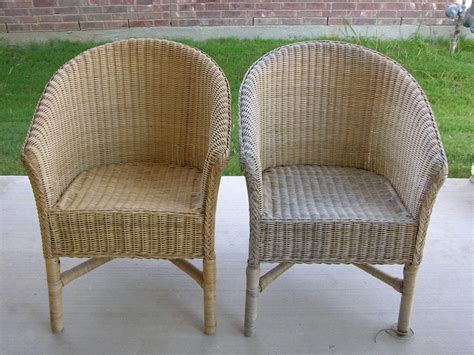 cane upholstery creative splatter painted wicker chairs