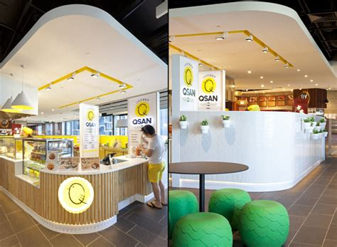 food court stall design qsan yakitori express store by morris selvatico sydney