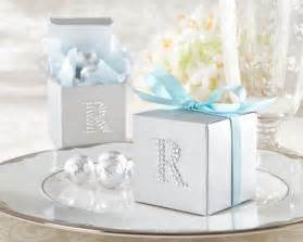 Silver Wedding Favor Boxes by Jeweled Monogram Silver Favor Kit Set Of 24