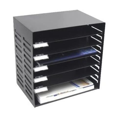 Officeworks Desk Organiser by Italplast Metal 6 Tier Stationery Rack Black Officeworks