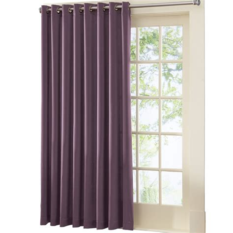 curtains etc gramercy patio door grommet top curtain panel by