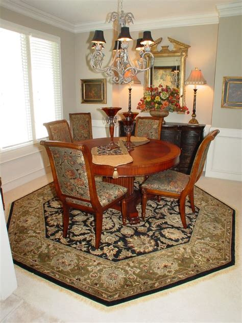 Area Rug Dining Room Dinning Rooms Traditional Dining Room Kansas City By Area Rug Dimensions