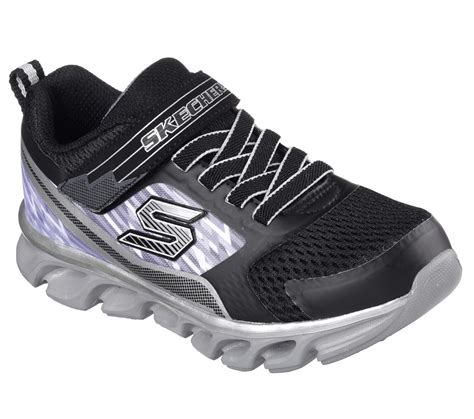 skechers s lights boys skechers boys s lights hypno flash light up silver