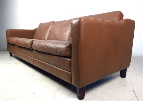 mid century modern leather sofa mid century modern danish leather sofa in the style of