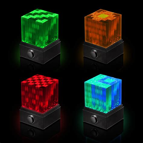 speakers with lights supernova light cube led bluetooth speaker thinkgeek