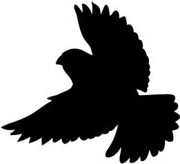Flying Blackbird Outline by Bird Silhouettes