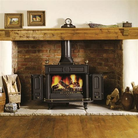 reclaimed brick fireplace also provided reclaimed beams 15 brick fireplace ideas for wood burning stoves selection