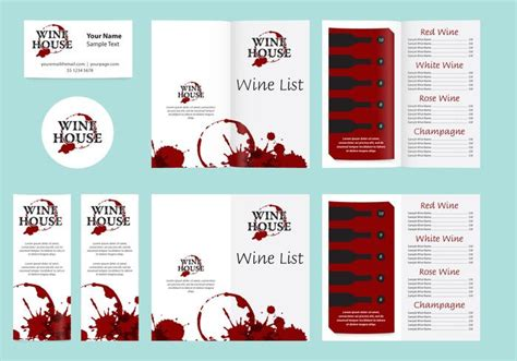 wine list template free templates and wine list free vector stock