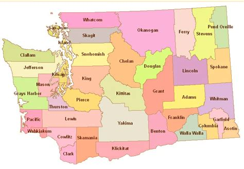 washington state map with cities washington state county map related keywords washington