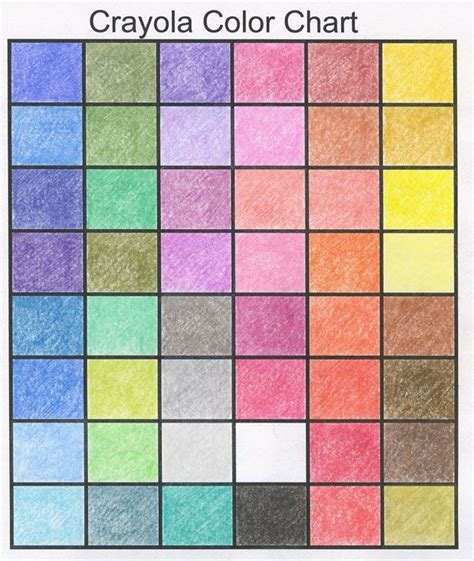 crayola color chart crayola crayon color chart artists 2 b