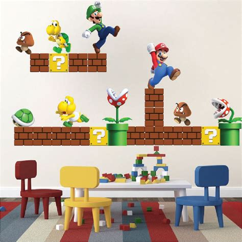 mario bros wall stickers mario bros wall decal wall decal murals