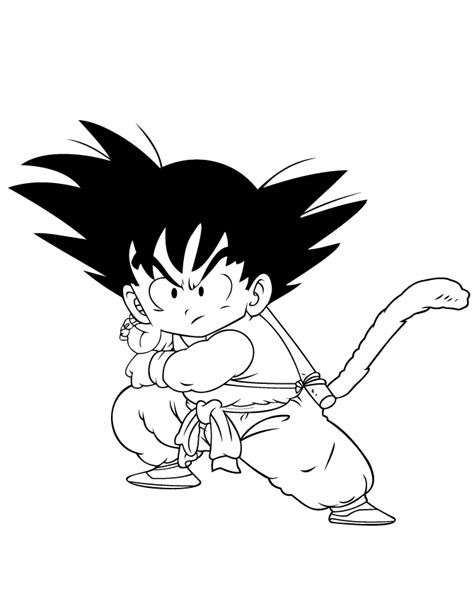 Free Coloring Pages Of Kid Vs Kid Goku Kid Goku Coloring Pages