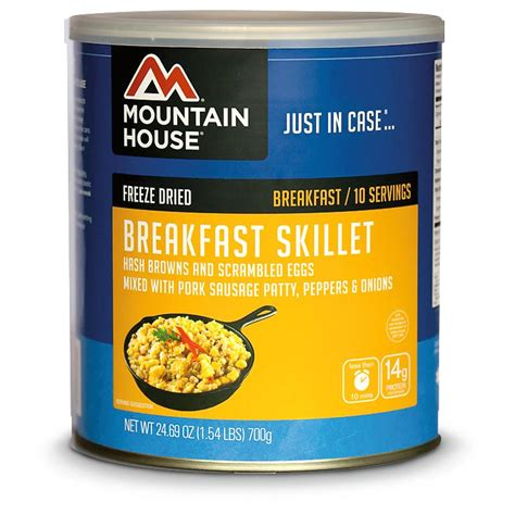 mountain house freeze dried food mountain house emergency food freeze dried breakfast skillet 218276 survival food