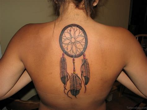 tattoos on the back 50 wonderful dreamcatcher tattoos on back