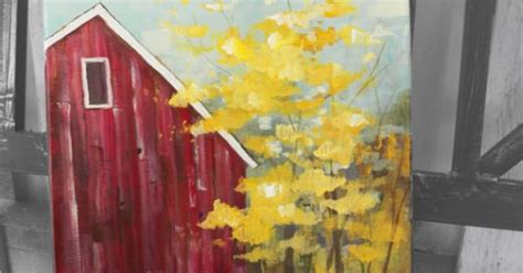 acrylic painting door autumn door county barn original painting acrylic by