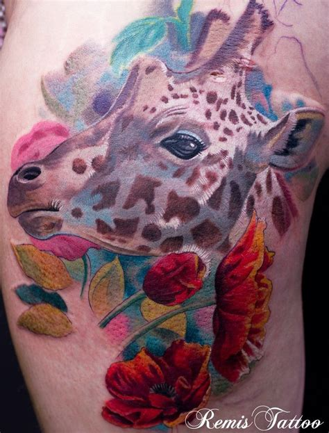 watercolor tattoos giraffe 118 best s giraffes elephants images on