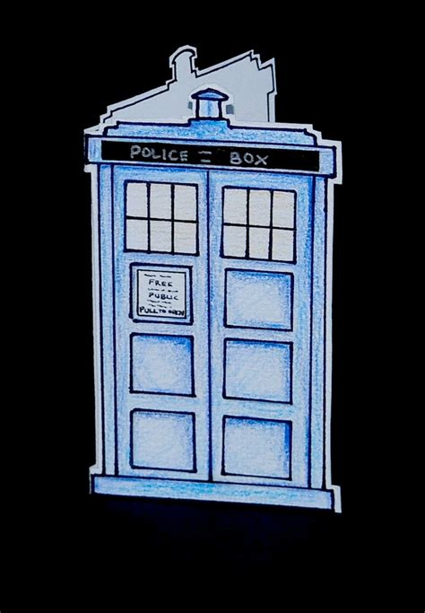 how to make a tardis card doctor who tardis card cards