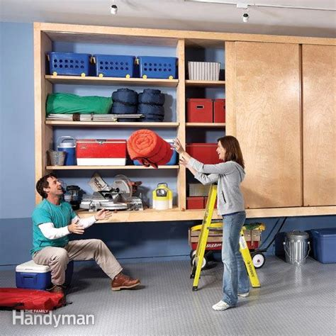 Garage Storage Ideas Handyman Diy Garage Cabinet The Family Handyman