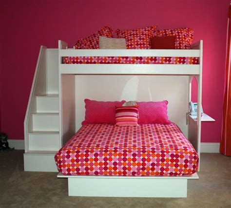 queen and twin bunk bed fantasy twin over queen bunk bed by country cottage