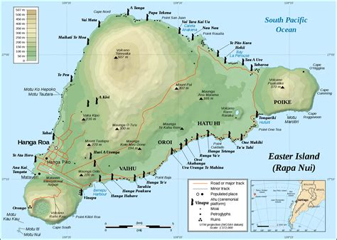 world map easter island map of easter island the world