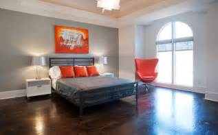 gray and orange bedroom orange and gray modern bedroom