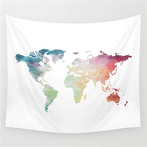 map tapestry map tapestry rainbow tapestry world map wall hanging globe