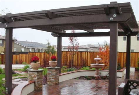 backyard pergola shade structures traditional patio