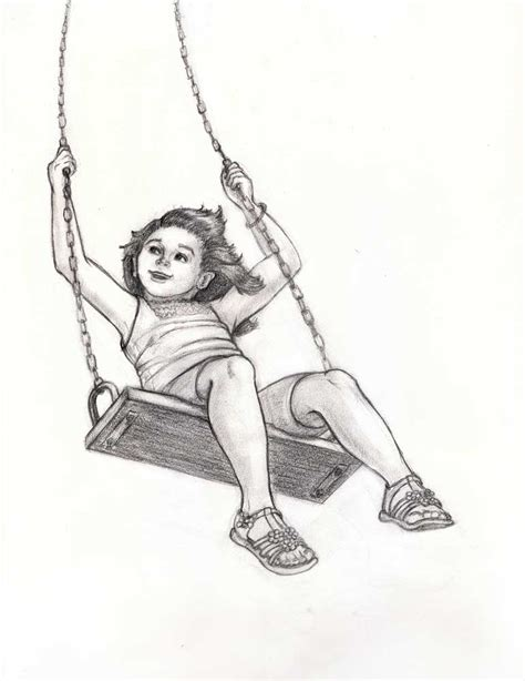 swing set drawing playground swing drawing www imgkid com the image kid