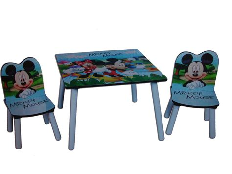 disney mickey mouse table and chairs made from wood