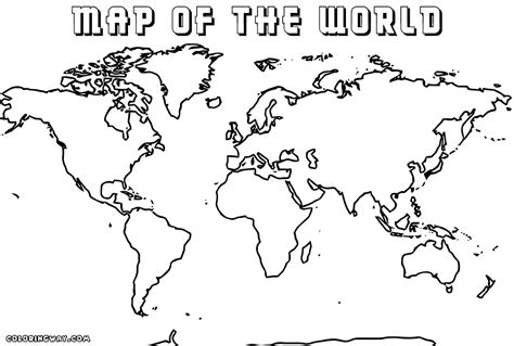 Large World Map Coloring Page | world map coloring pages coloring pages to download and