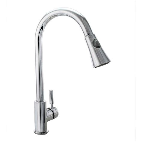 cosmo single handle pull sprayer kitchen faucet with