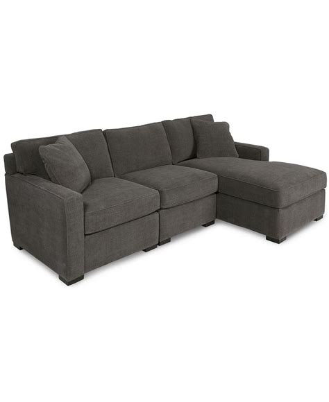 macys radley sectional radley 3 piece fabric modular chaise sectional