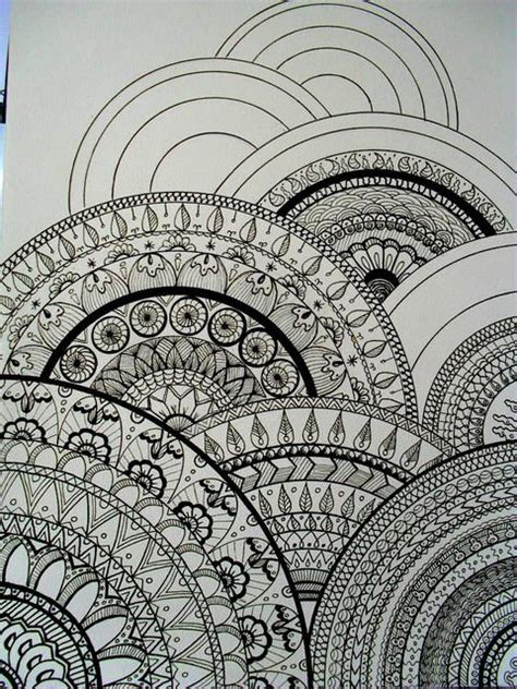 circular pattern drawing all sizes my drawings inspired zentangle 174 this would