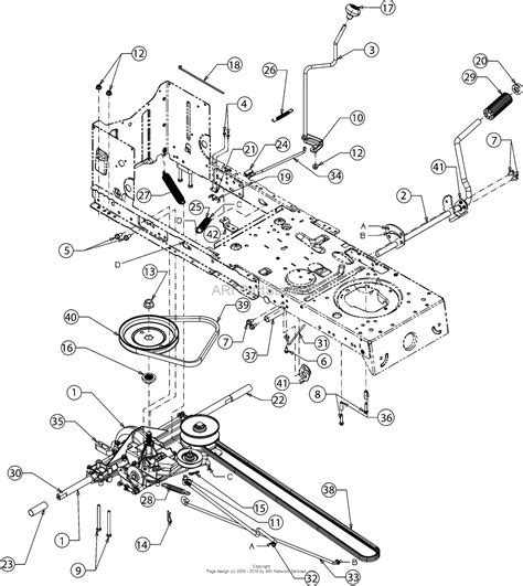 mtd lawn tractor parts diagram mtd 13w277ss031 lt 4200 2016 parts diagram for drive