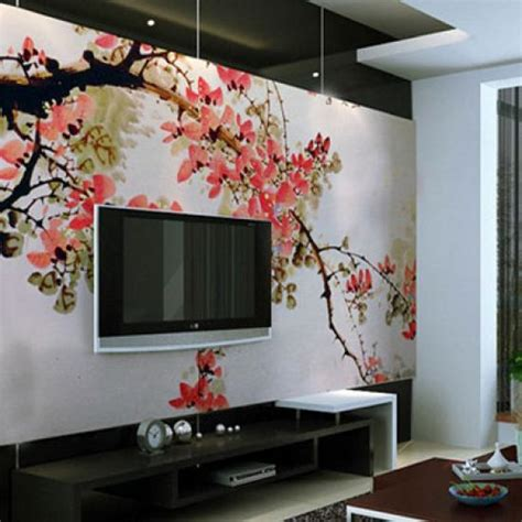 interior wall painting ideas painted wall mural ideas for living room 1 wall decal