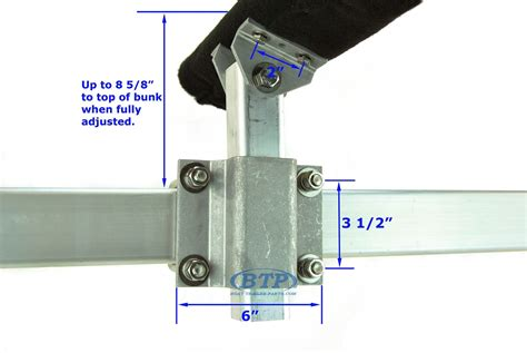 boat trailer roller bunk bracket ultimate aluminum and stainless steel swivel top bunk
